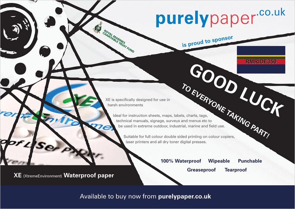 Purelypaper XE paper magazine advert