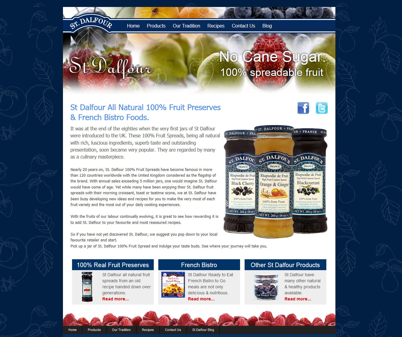 St. Dalfour fruit preserves website