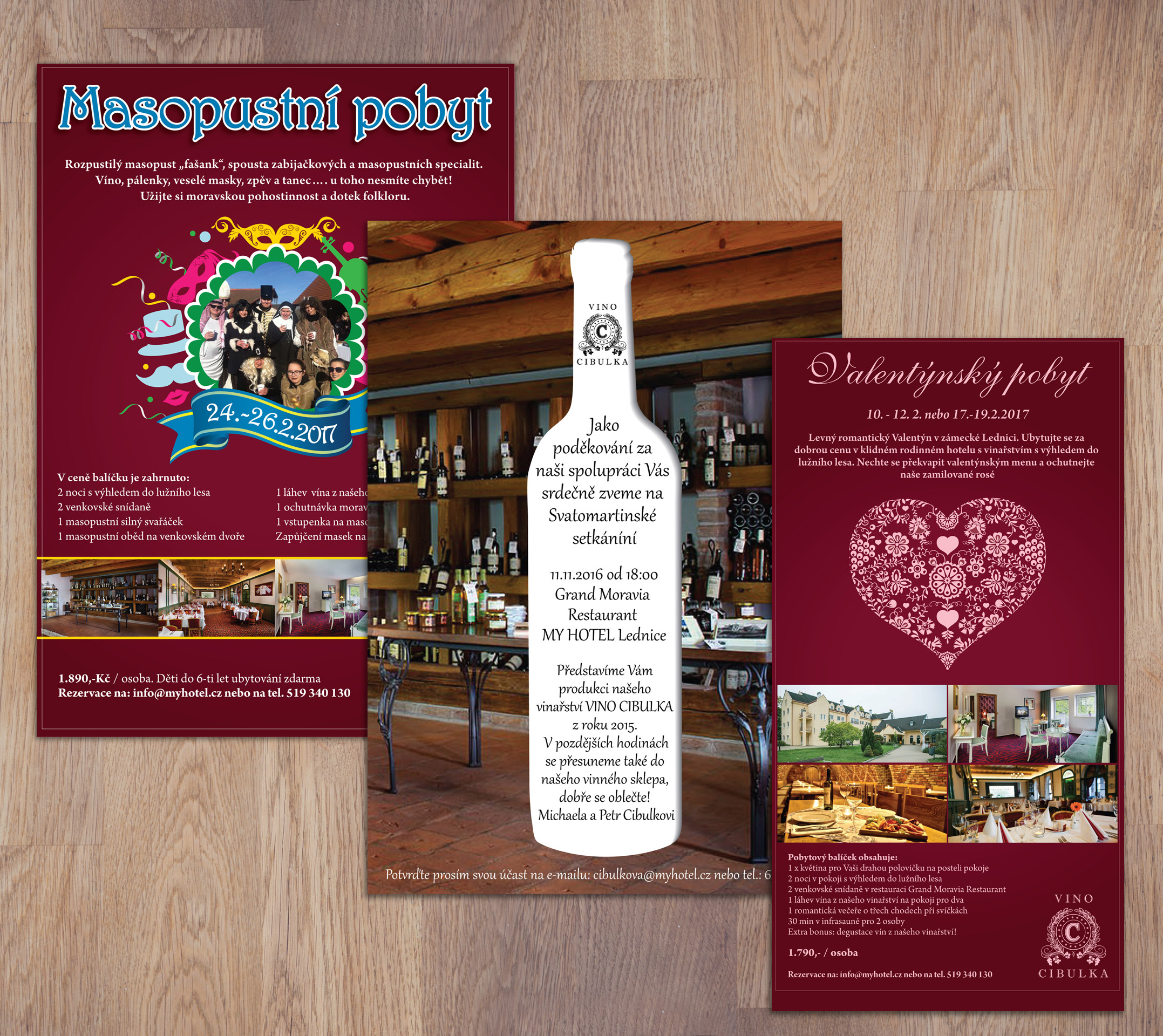Various flyer designs for My Hotel