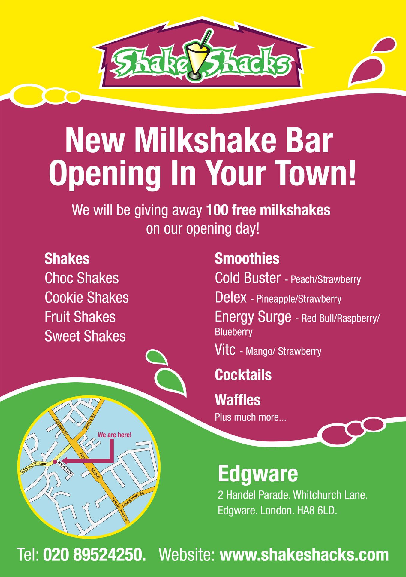 Shakeshacks A5 flyer