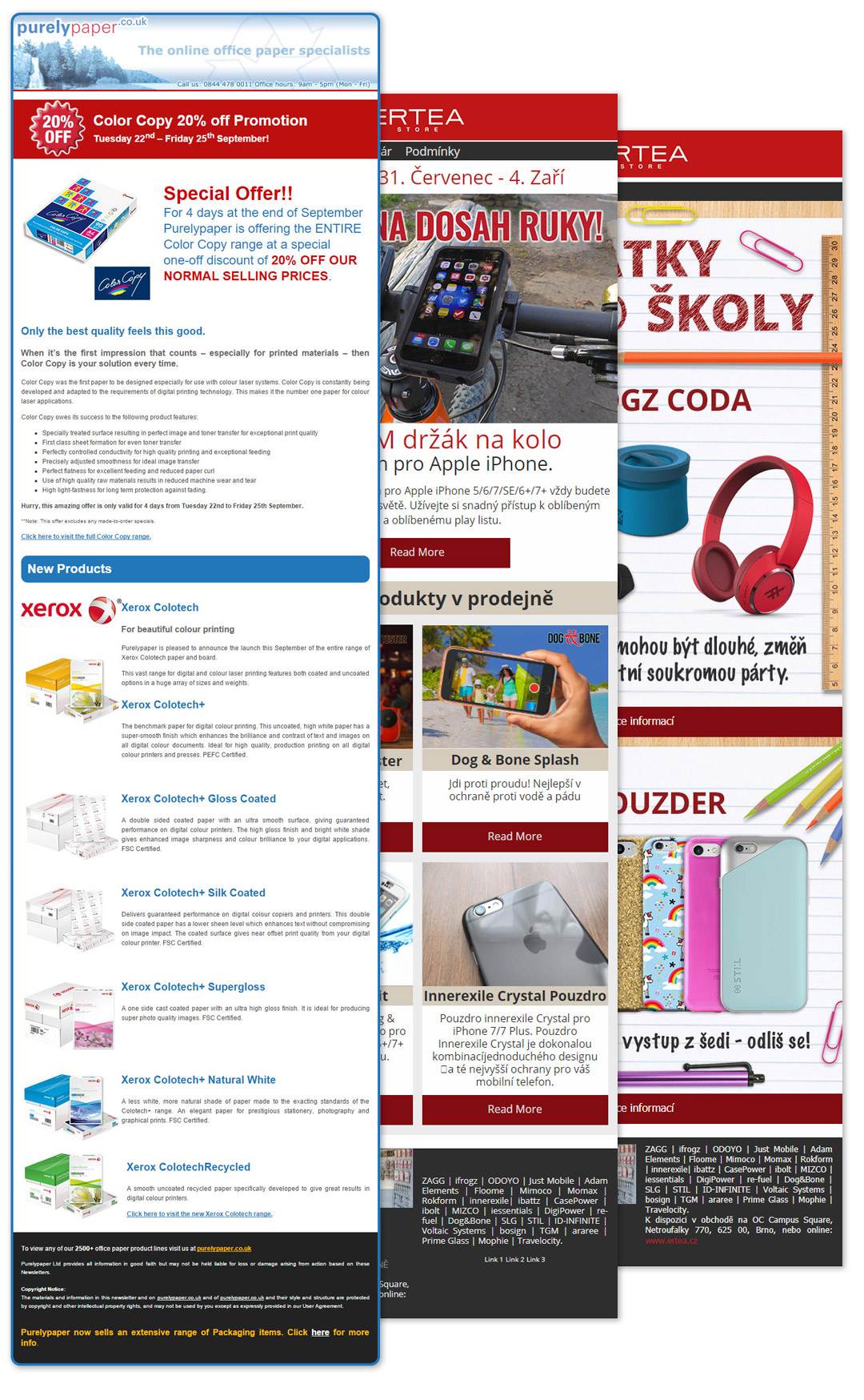 Various newsletter designs