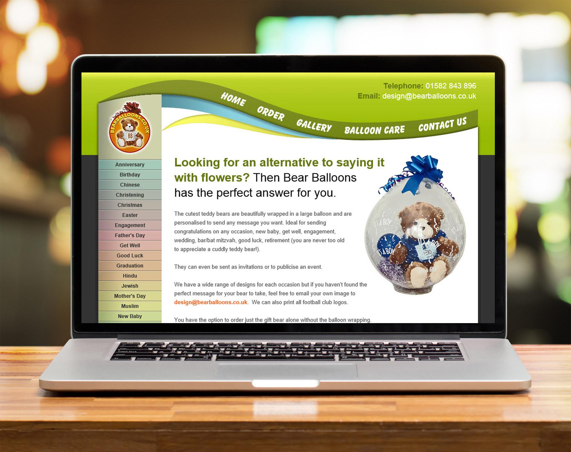 Website design - Bearballoons
