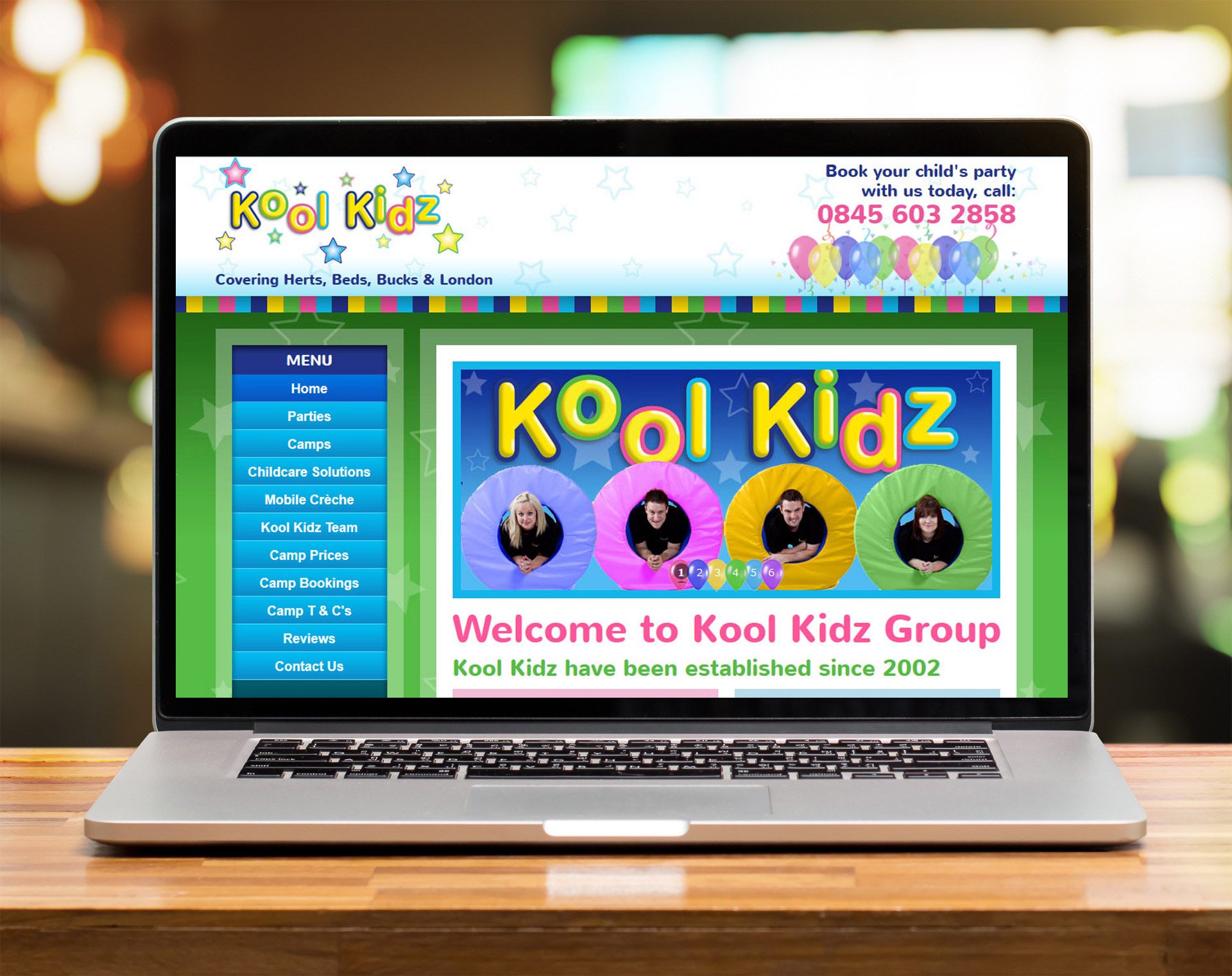 Website design - Koolkidz