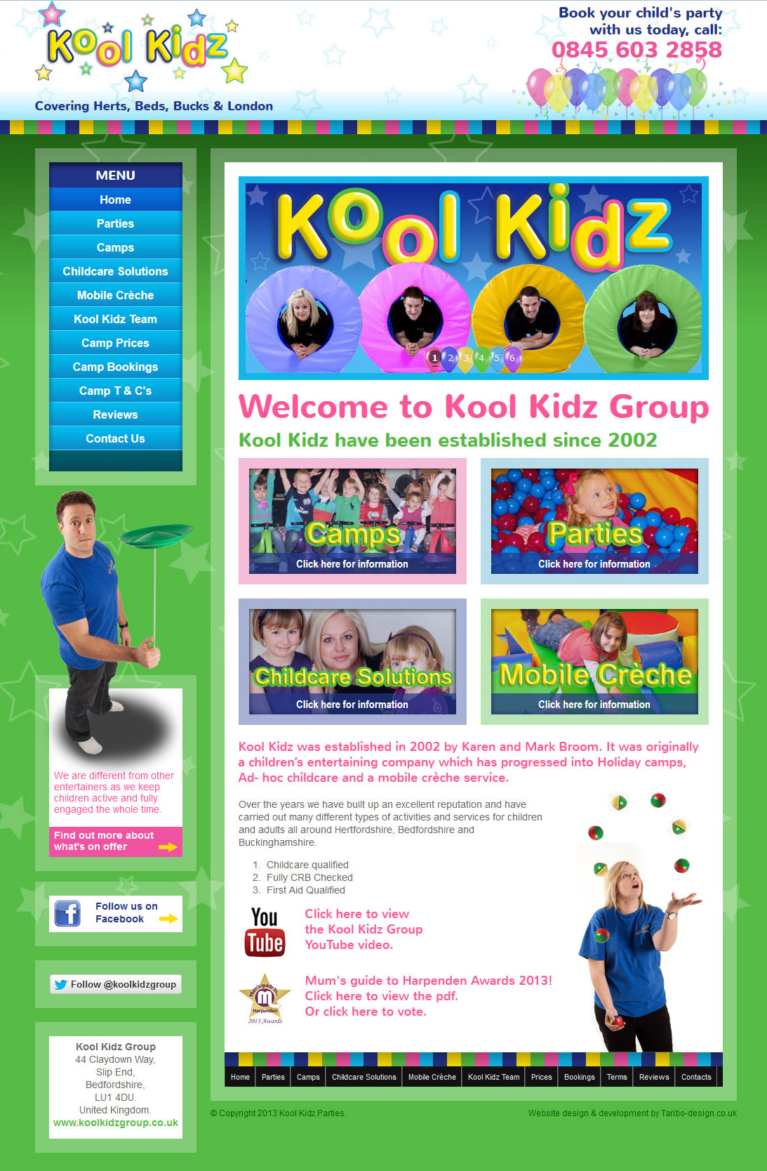 Website design - Koolkidz